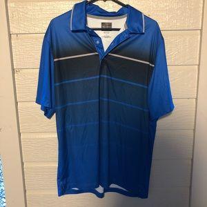 Blue Dri Fit Collared Shirt